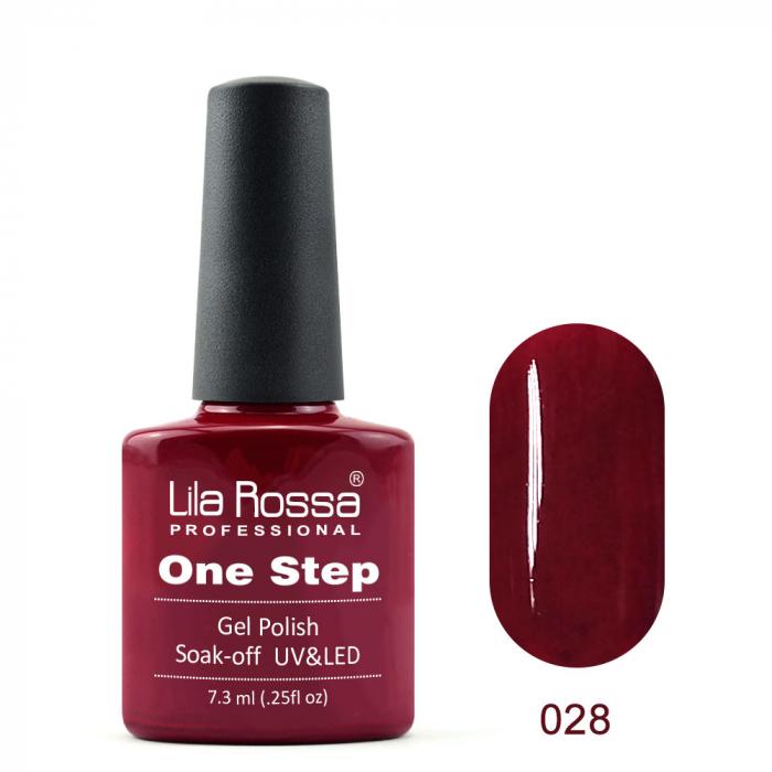 Oja semipermanenta Lila Rossa One Step 028 7.3 ml [0]