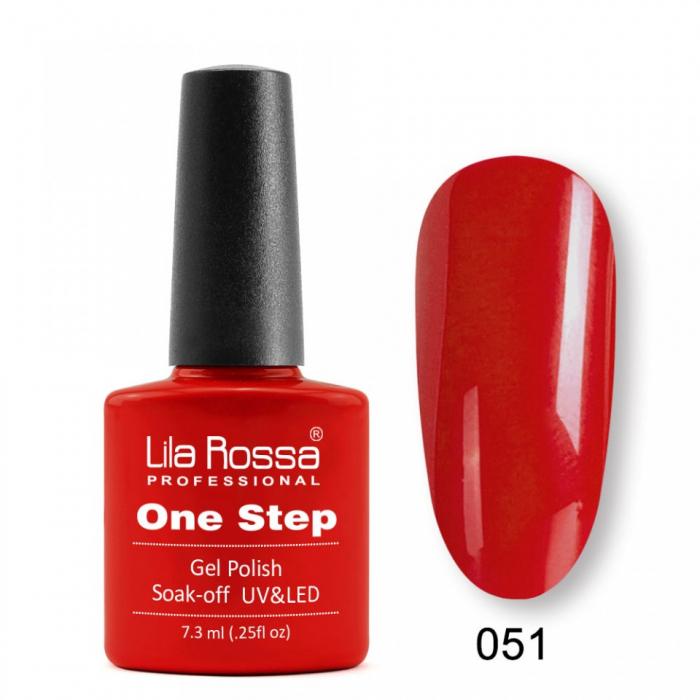 Oja semipermanenta Lila Rossa One Step 051 7.3 ml [0]