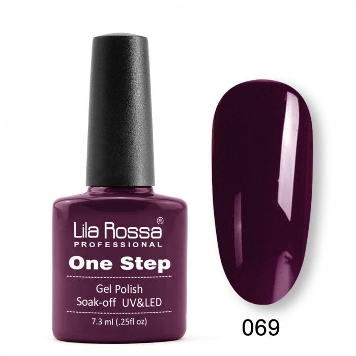 Oja semipermanenta Lila Rossa One Step 069 7.3 ml [0]