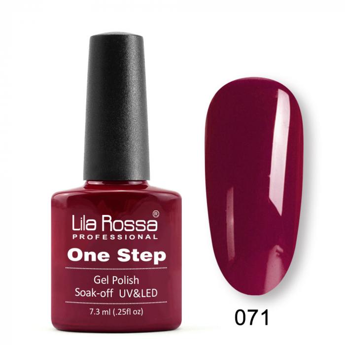 Oja semipermanenta Lila Rossa One Step 071 7.3 ml [0]