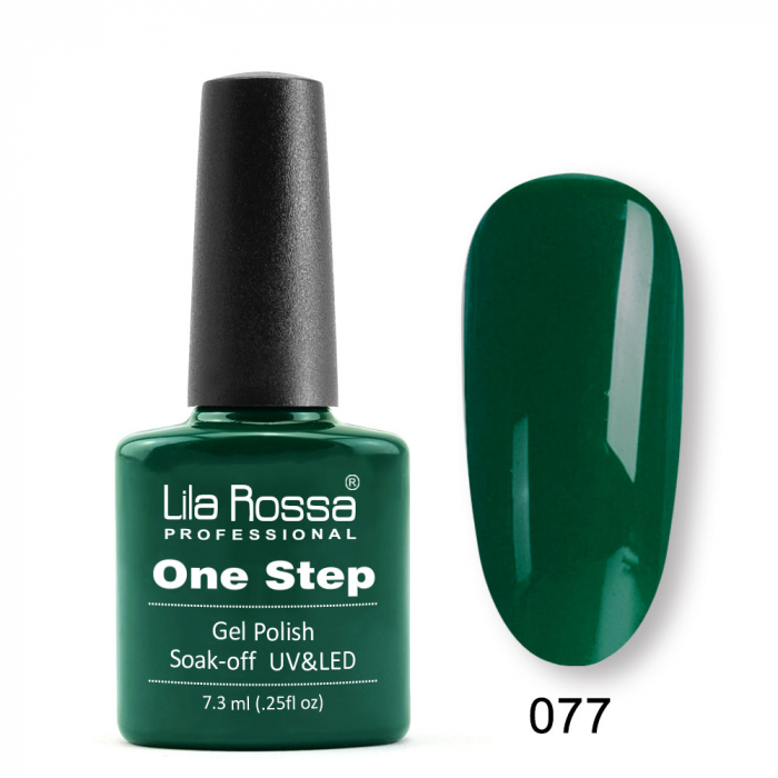 Oja semipermanenta Lila Rossa One Step 077 7.3 ml [0]