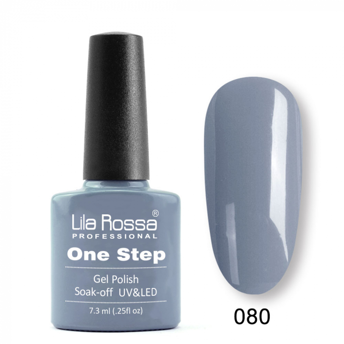 Oja semipermanenta Lila Rossa One Step 080 7.3 ml [0]