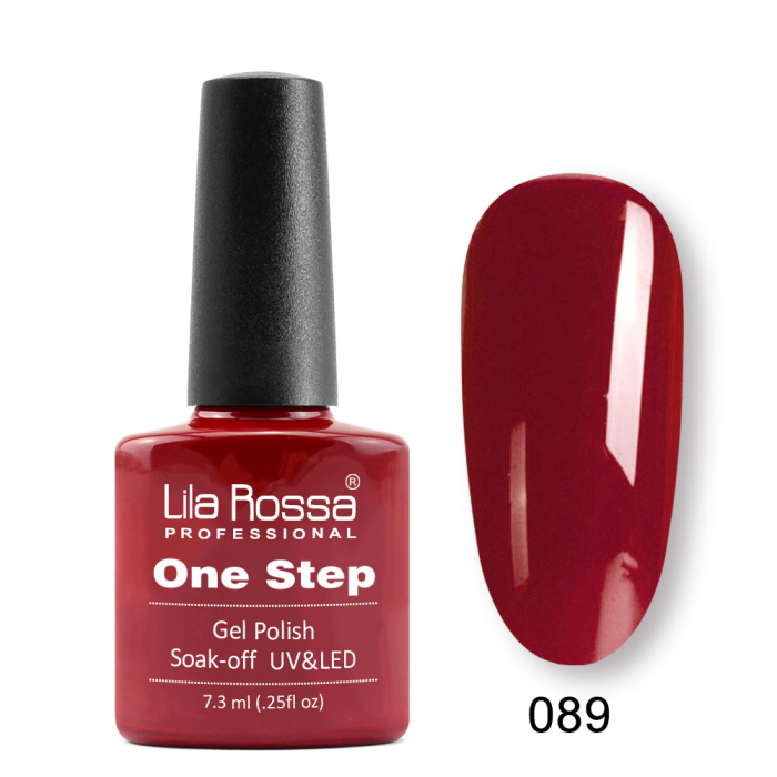 Oja semipermanenta Lila Rossa One Step 089 7.3 ml [0]