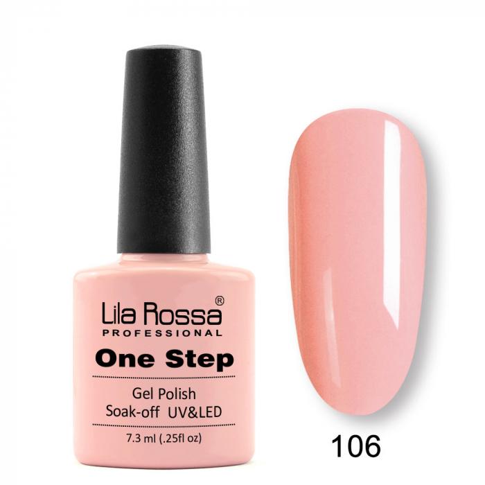 Oja semipermanenta Lila Rossa One Step 106 7.3 ml [0]