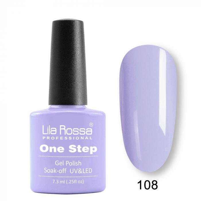 Oja semipermanenta Lila Rossa One Step 108 7.3 ml [0]