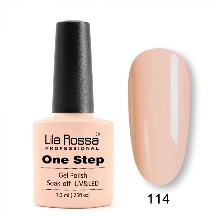 Oja semipermanenta Lila Rossa One Step 114 7.3 ml [0]