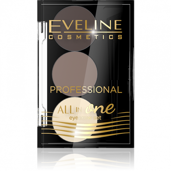 Kit sprancene Eveline All in One cu ceara + 2 pudre pentru definire [0]