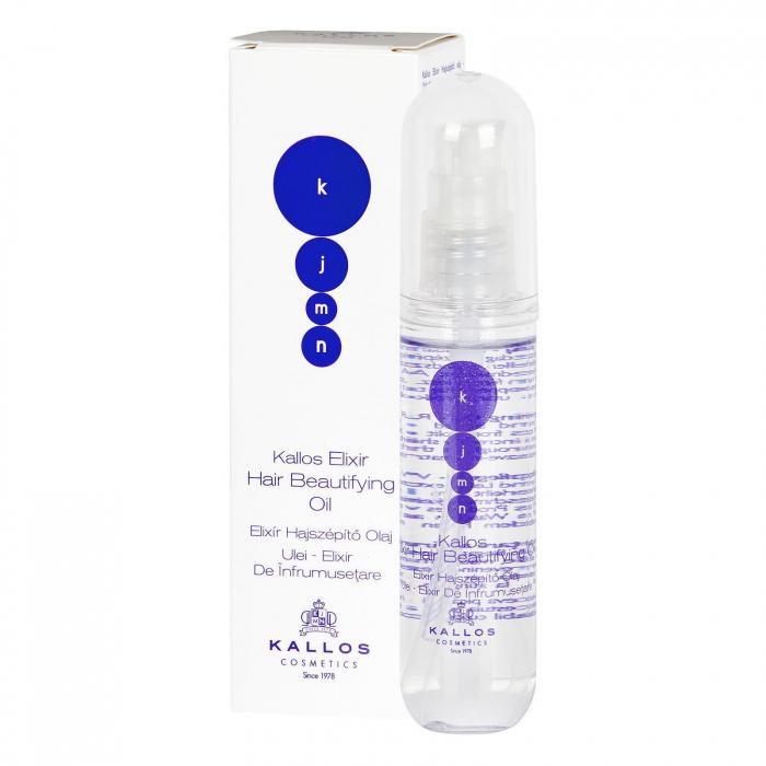 Ulei elixir pentru infrumusetarea parului Kallos KJMN 50 ml [0]