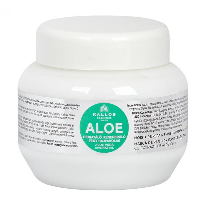 Masca de par hidratanta, regeneranta cu extract de Aloe Vera Kallos KJMN [0]