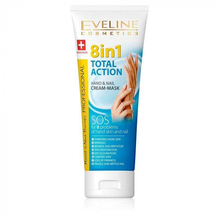 Crema pentru maini si unghii Eveline 8 in 1 Total Action 75 ml [0]