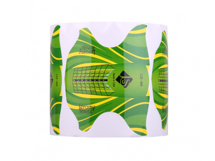 Sabloane constructie unghii Jerome Stage fluture verde [0]