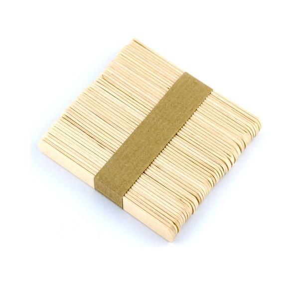 Spatula ingusta din lemn pentru intins ceara de epilat [1]