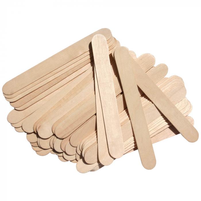 Spatula lata din lemn pentru intins ceara de epilat [2]