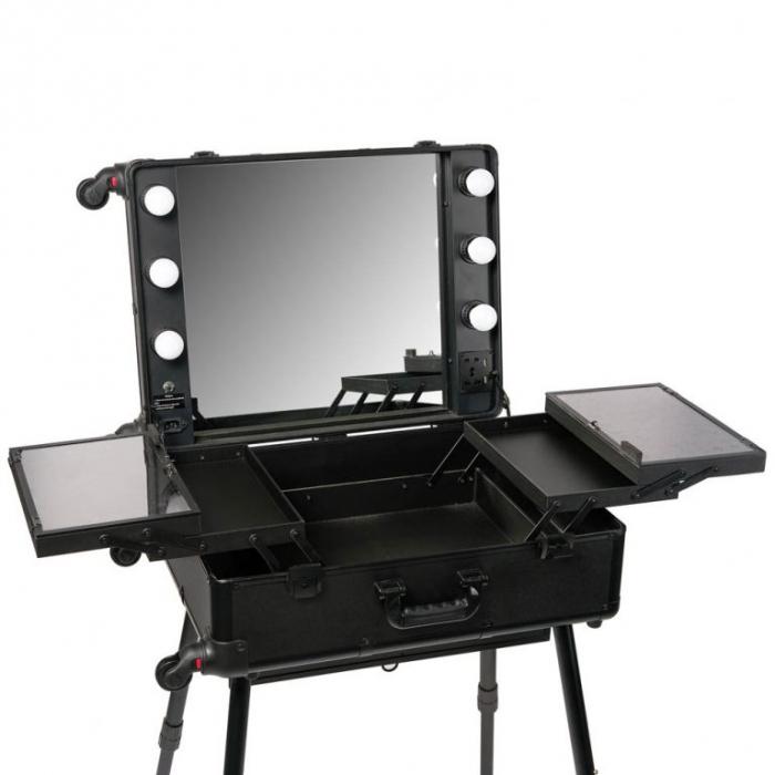 Statie make-up profesionala Oranjollie Black tip troller [1]