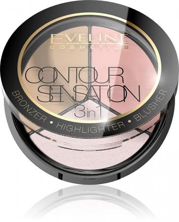 Paleta contur 3 in 1 Eveline Contour Sensation [0]