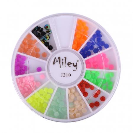 Carusel strasuri pentru unghii Miley mixt