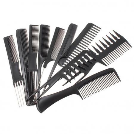 Set piepteni profesionali pentru frizerie sau coafor 10 buc. [0]
