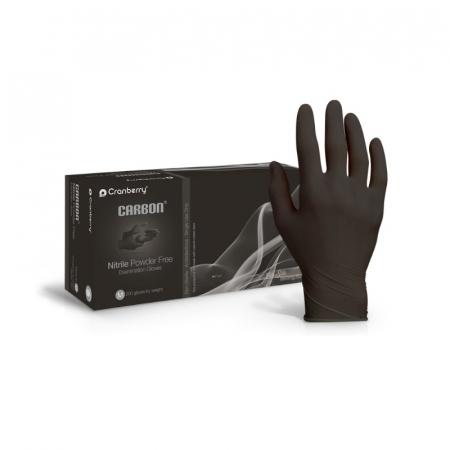 Manusi din nitril negre Cranberry Carbon [0]