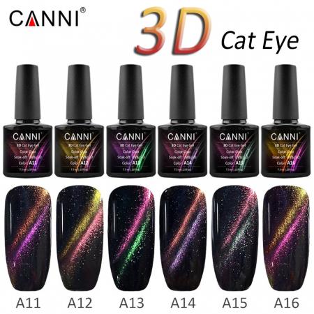 Oja semipermanenta Canni 3D Cat Eyes A15 7.3 ml [1]