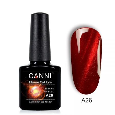Oja semipermanenta Canni Flame Cat Eye A26 7.3 ml [0]