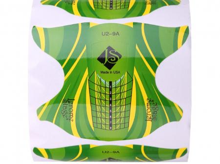 Sabloane constructie unghii Jerome Stage fluture verde [1]