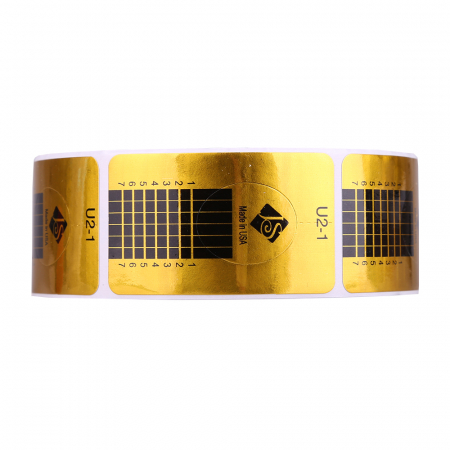 Sabloane constructie unghii Jerome Stage inguste, aurii 500 buc.