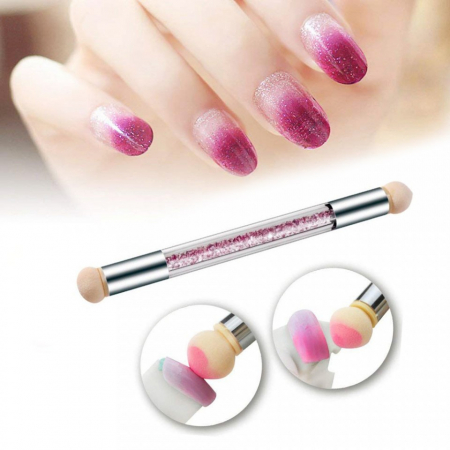 Pensula unghii cu burete pentru ombre sau Baby Boomer + 4 rezerve [1]