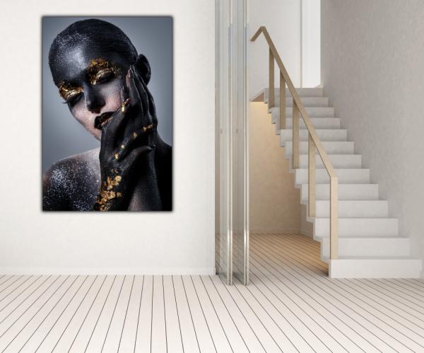 Tablou modern pe panou - beautiful women artistic makeup 2