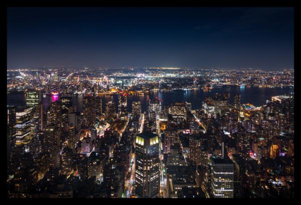 Tablou modern pe panou - panoramic aerial view Manhattan 0