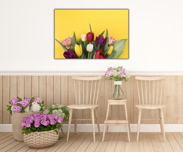 Tablou modern pe panou - muchos tulipanes 4
