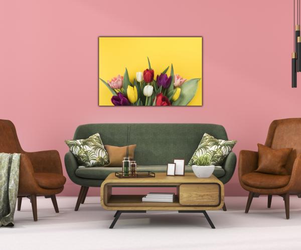 Tablou modern pe panou - muchos tulipanes 3