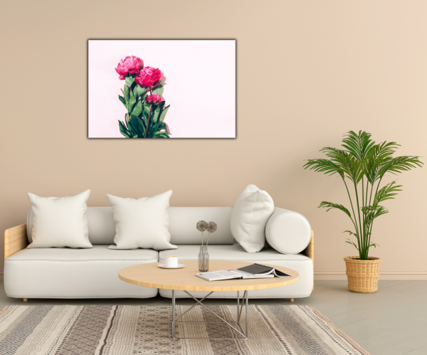 Tablou modern pe panou - pink peony 2