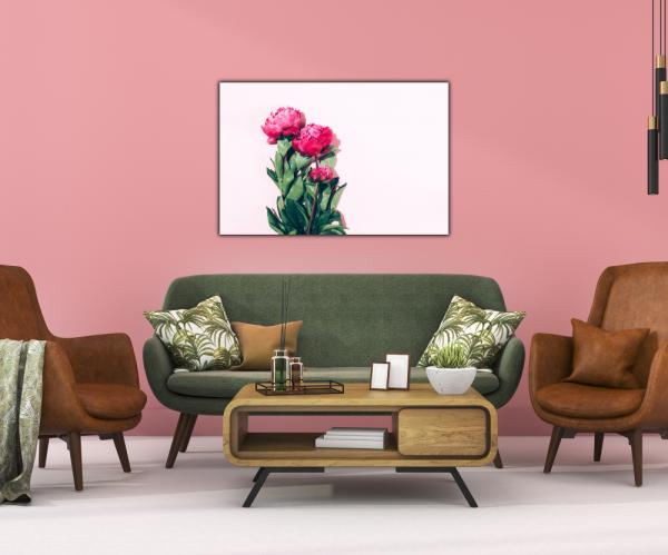 Tablou modern pe panou - pink peony 3