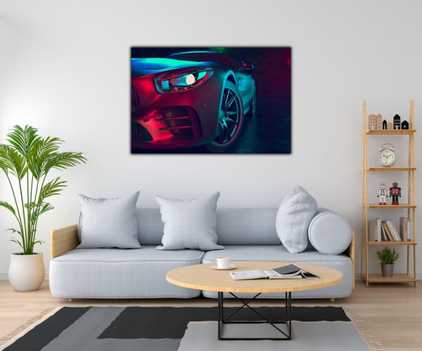 Tablou modern pe panou - beautiful sport car design 1