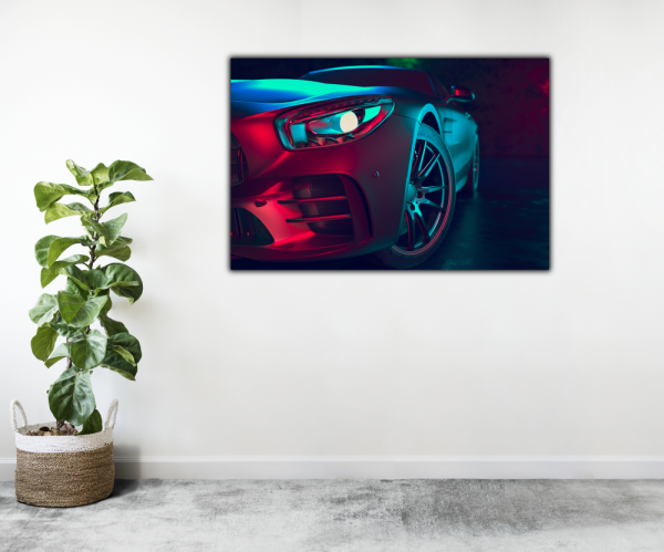 Tablou modern pe panou - beautiful sport car design 2
