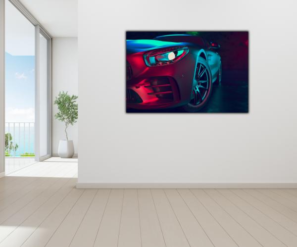 Tablou modern pe panou - beautiful sport car design 3