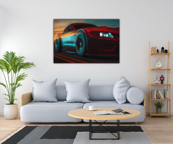 Tablou modern pe panou - modern sport car design 1