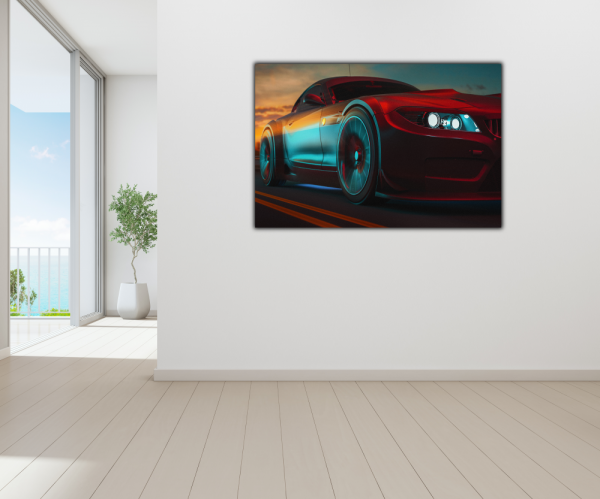 Tablou modern pe panou - modern sport car design 3