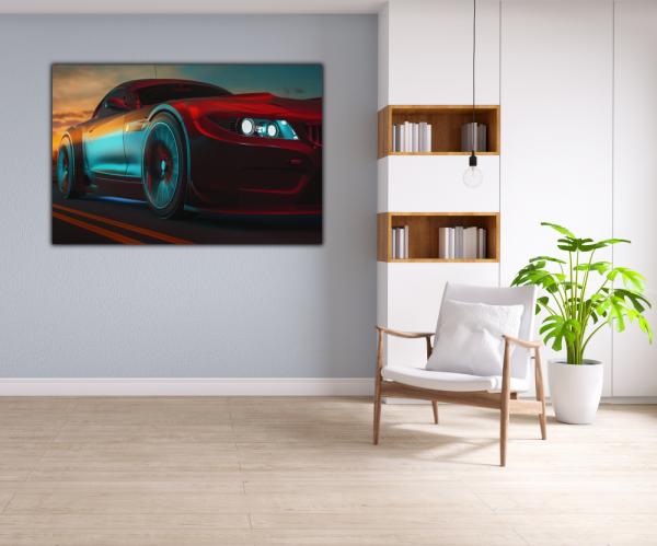 Tablou modern pe panou - modern sport car design 4
