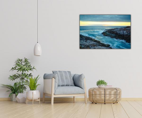 Tablou modern pe panou - cliff mountain ocean 2