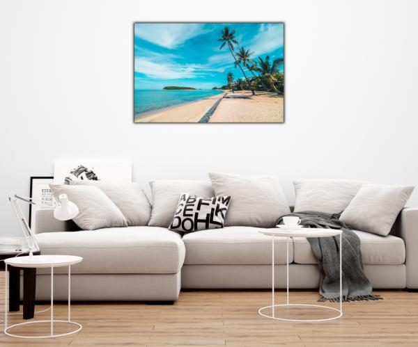 Tablou modern pe panou - beautiful tropical beach 3