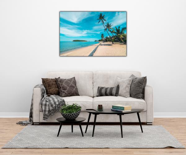 Tablou modern pe panou - beautiful tropical beach 1