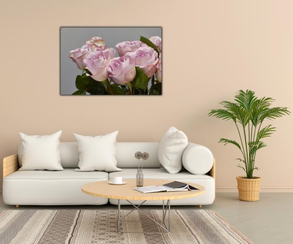 Tablou modern pe panou - bouquet blooming pink roses 2