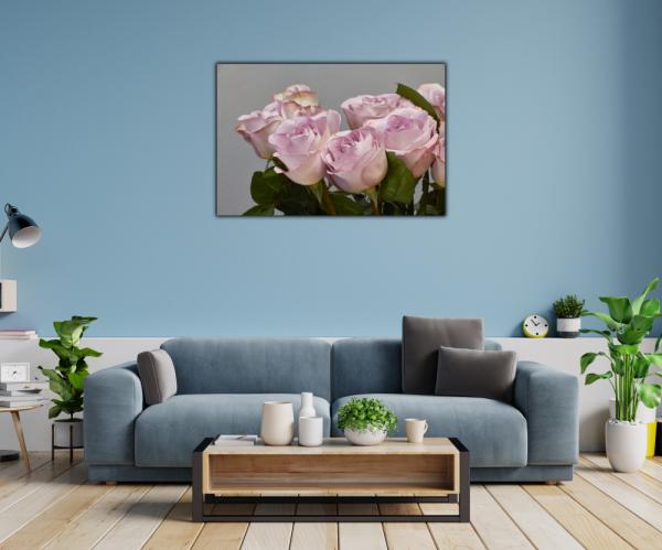 Tablou modern pe panou - bouquet blooming pink roses 1
