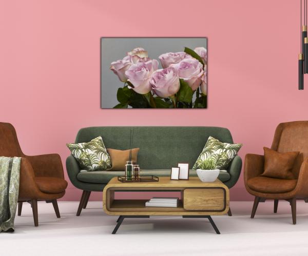 Tablou modern pe panou - bouquet blooming pink roses 3