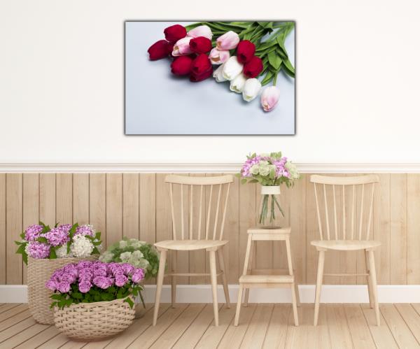 Tablou modern pe panou - bouquet tulips 4