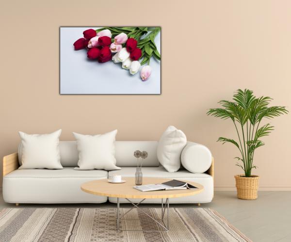 Tablou modern pe panou - bouquet tulips 2