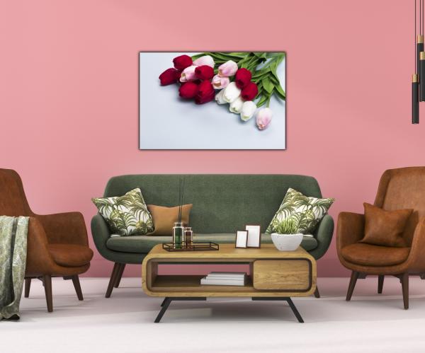 Tablou modern pe panou - bouquet tulips 3