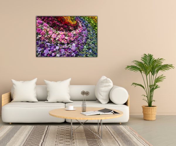 Tablou modern pe panou - colorful flowers 2