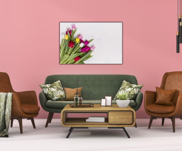 Tablou modern pe panou - colorful tulip flowers 3
